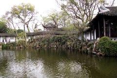 Сады Cang Lang Сучжоу окрашивают стоковое изображение rf