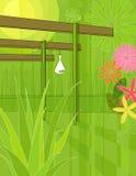сад беседки самомоднейший иллюстрация вектора