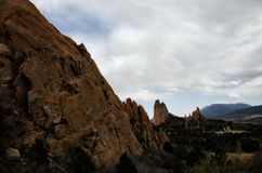 Сад богов в Колорадо стоковые изображения rf
