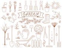 Сад весны и комплект инструментов Стоковое Изображение