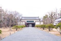 Сад в дворце Ninomaru на замке Nijo в Киото Стоковые Фото