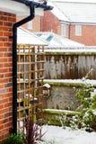 |Сад в снеге стоковые изображения rf