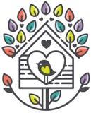 Сад дерева Birdhouse Стоковое Изображение