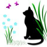 сад кота Стоковое Изображение RF