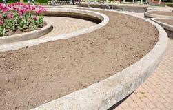 сад кровати стоковая фотография