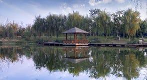 сад над водой павильона Стоковые Фото