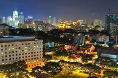 сад ночи городского пейзажа cbd зоны Стоковые Фотографии RF