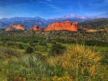 Сад парка богов в Колорадо-Спрингс, Колорадо стоковые фотографии rf