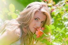 сад поднял женщина Стоковое фото RF