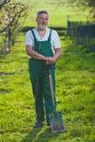 сад садовничая его старший человека Стоковые Фото