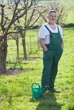 сад садовничая его старший человека Стоковое Изображение