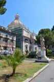 Сад собора St Agata от другой стороны стоковое фото