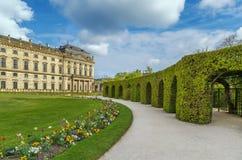Сад суда резиденции, Wurzburg, Германия Стоковые Фотографии RF