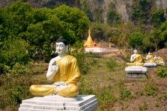 Сад тысячи садов Buddhas или Lumbini в Hpa-An, Мьянме стоковое фото rf