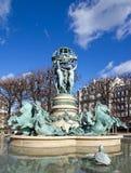 сад фонтана исследователей Стоковые Фото