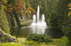 сад фонтана Канады butchard пышный Стоковое Изображение