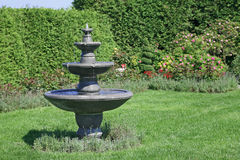 сад фонтана Стоковое фото RF