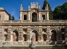 сад фонтана alcazar Стоковая Фотография RF