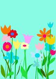 сад цвета aqua Стоковые Фотографии RF