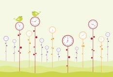 сад часов иллюстрация вектора
