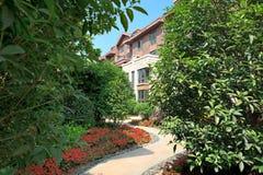 сад footpath своя спокойная замотка путя Стоковая Фотография