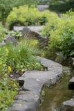 сад landscaped поток Стоковое фото RF