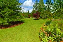 сад landscaping srpingtime Стоковое Изображение