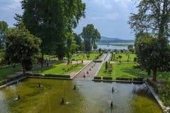Сад Mughal в Сринагаре стоковое фото