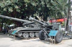 Сайгон, Вьетнам, 20-ое января 2015 Американские оружи в музее война США против Демократической Республики Вьетнам в Сайгоне Стоковая Фотография