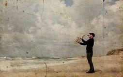 саксофонист стоковая фотография