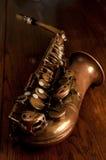 саксофон альта старый Стоковое фото RF