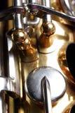 саксофон детали Стоковое фото RF