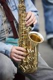 саксофон игрока Стоковая Фотография RF