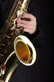 саксофон игрока Стоковое Изображение RF