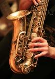 саксофон игрока Стоковое Изображение