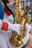 саксофон игроков Стоковое Изображение RF