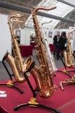 Саксофон на гитарах Милана & за 2013 в милане Стоковая Фотография RF