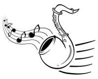 саксофон нот Стоковое Изображение