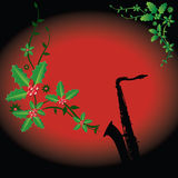саксофон праздника предпосылки Стоковая Фотография
