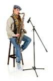 саксофон совершителя нот Стоковое фото RF