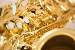 Саксофон части Стоковые Изображения