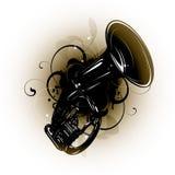 саксофон grunge Иллюстрация вектора