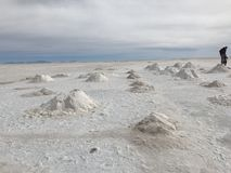 Салар в Uyuni Боливия, Южная Америка Стоковая Фотография RF