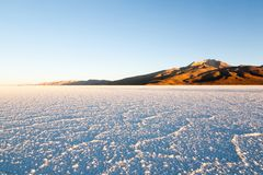 Салар de Uyuni, взгляд Cerro Tunupa Стоковое фото RF
