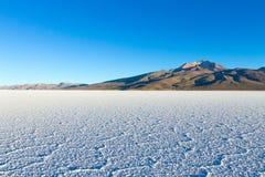 Салар de Uyuni, взгляд Cerro Tunupa Стоковые Изображения