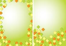 Салатовые абстрактные предпосылки A4 с покрашенными quadrates - вектор бесплатная иллюстрация