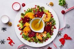 Салат венка рождества Стоковые Изображения