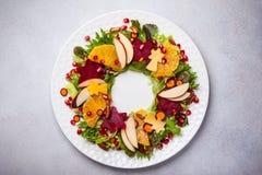 Салат венка рождества Стоковое Изображение RF
