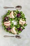 Салат венка рождества Стоковая Фотография