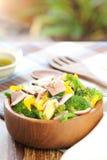 салат ветчины брокколи стоковая фотография rf